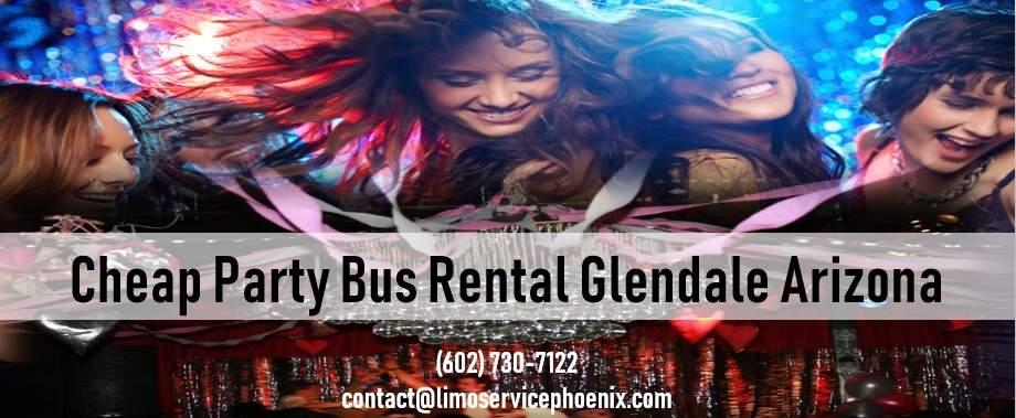 Cheap Party Bus Rental Glendale